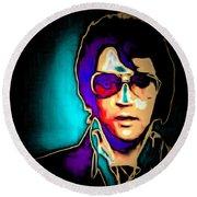 Elvis Presley 20151218 Square Round Beach Towel
