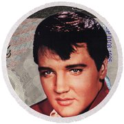 Elvis Presley Round Beach Towel by Unknown