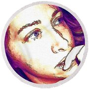Round Beach Towel featuring the digital art Ely by Ely Arsha