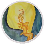 Emanation Round Beach Towel