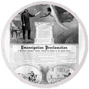 Emancipation Proclamation Round Beach Towel