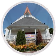Emanuel Lutheran Church  Patchogue Ny Round Beach Towel