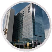 Round Beach Towel featuring the photograph Embassy Suites 2916 by Guy Whiteley