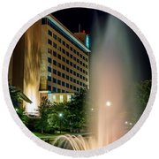 Round Beach Towel featuring the photograph Embassy Suites Huntsville by David Morefield
