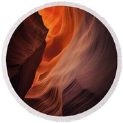 Embers Round Beach Towel