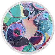 Embrace Round Beach Towel