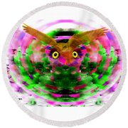 Round Beach Towel featuring the digital art Embrace The Wind by Seth Weaver
