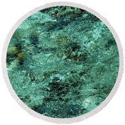 The Emerald Beauty Round Beach Towel