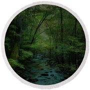 Emerald Creek Round Beach Towel