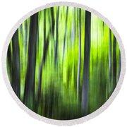 Green Forest - North Carolina Round Beach Towel