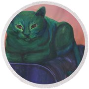 Emerald Round Beach Towel
