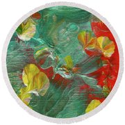 Emerald Island Round Beach Towel