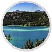Emerald Lake 2 Round Beach Towel