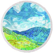 Emerald Moments Round Beach Towel