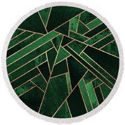 Emerald Night Round Beach Towel