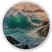 Emerald Sea Round Beach Towel
