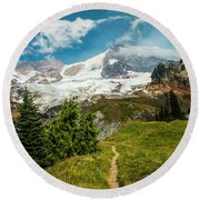 Emerald View Round Beach Towel