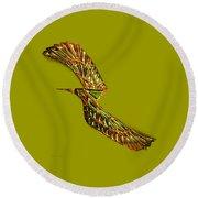 Emerald Wings Round Beach Towel