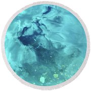 Swimming Horse Round Beach Towel
