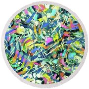 Emergence - Detail Round Beach Towel