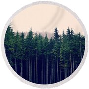 Round Beach Towel featuring the photograph Emerson  by Robin Dickinson