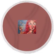 Emily 2 Round Beach Towel