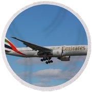 Emirates Air 777 Round Beach Towel