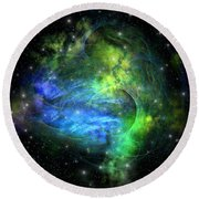 Emission Nebula Round Beach Towel
