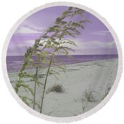 Emma Kate's Purple Beach Round Beach Towel