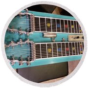 Emmons Lashley Legrande Pedal Steel Guitar Round Beach Towel