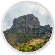 Emory Peak Chisos Mountains Round Beach Towel