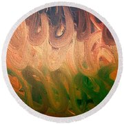Emotion Acrylic Abstract Round Beach Towel