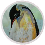 Emperor Penguin Round Beach Towel