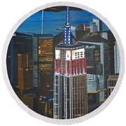 Empire State Round Beach Towel
