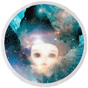 Empress Round Beach Towel
