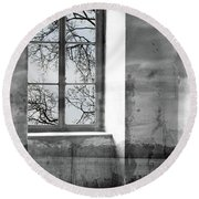 Round Beach Towel featuring the photograph Emptiness by Munir Alawi