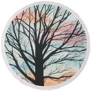 Empty Beauty Round Beach Towel