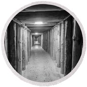 Round Beach Towel featuring the photograph Empty Corridor by Juli Scalzi