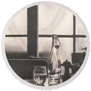 Empty Glass Round Beach Towel