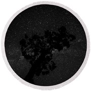 Round Beach Towel featuring the photograph Empty Night Tree by T Brian Jones