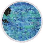 Round Beach Towel featuring the painting Empty Page Of Your Diary by Jayime Jean