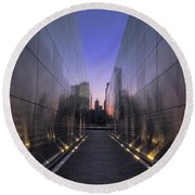 Empty Sky 911 Memorial Round Beach Towel