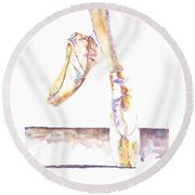 En Pointe Round Beach Towel