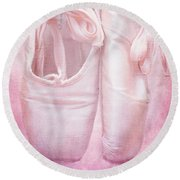 En Pointe Round Beach Towel by Iryna Goodall