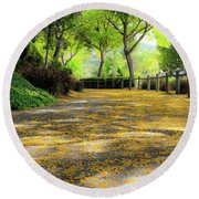 Enchanted Path Round Beach Towel