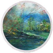 Enchanted Afternoon Round Beach Towel