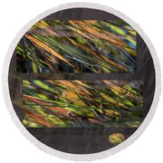 Enchanted By Light -  Round Beach Towel
