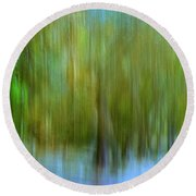 Enchanted Cypress Forest Round Beach Towel