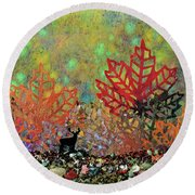 Enchanted Pathways Round Beach Towel by Donna Blackhall