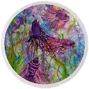 Enchanted Sealife Party Round Beach Towel